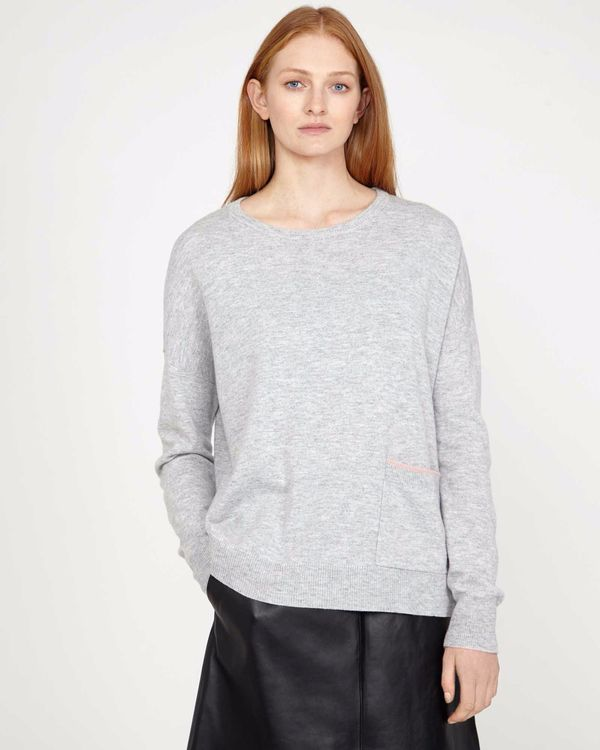 Carolyn Donnelly The Edit Grey Pocket Sweater