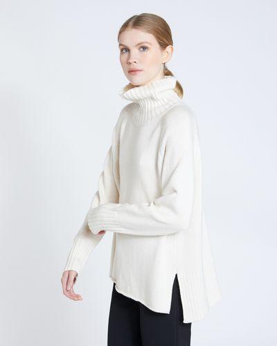 Carolyn Donnelly The Edit Raglan Polo Sweater