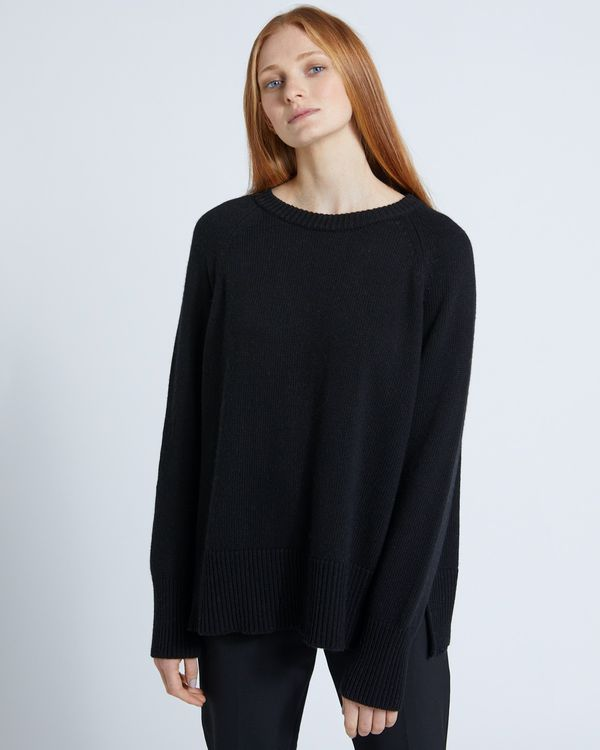 Carolyn Donnelly The Edit Black Crew Neck Sweater