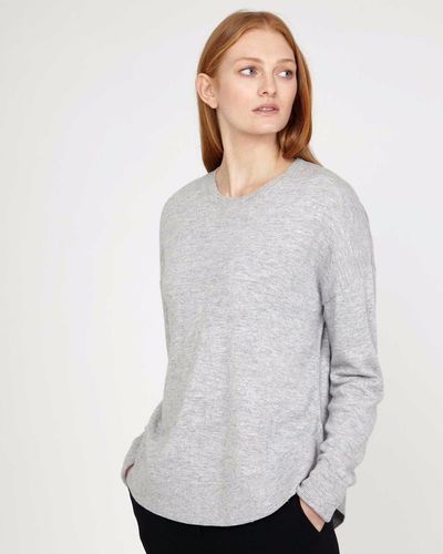 Carolyn Donnelly The Edit Grey Curved Hem Sweater thumbnail