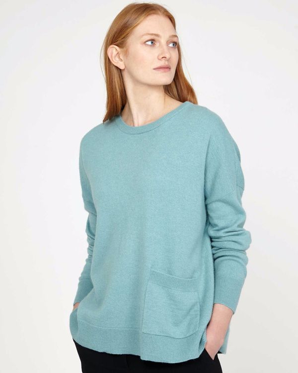 Carolyn Donnelly The Edit Blue Pocket Sweater