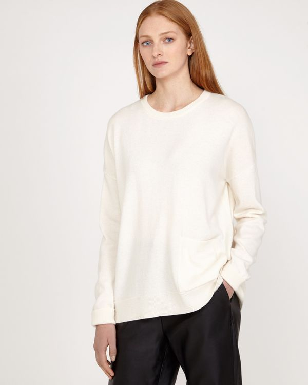 Carolyn Donnelly The Edit Cream Pocket Sweater