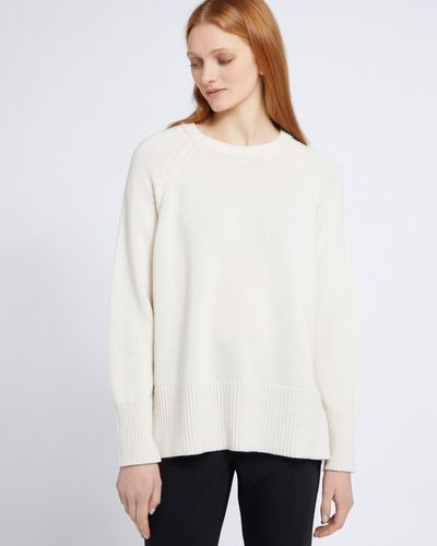 Carolyn Donnelly The Edit Cream Raglan Sweater