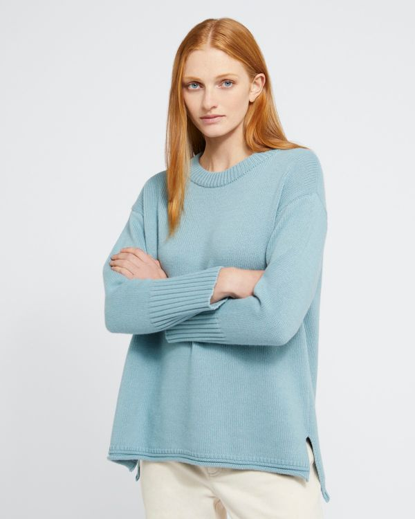 Carolyn Donnelly The Edit Blue Crew Neck Sweater