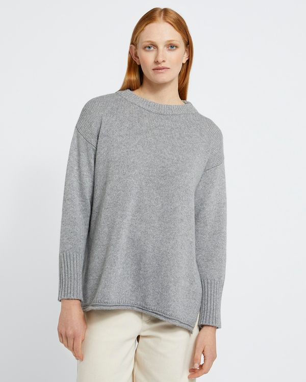 Carolyn Donnelly The Edit Grey Crew Neck Sweater