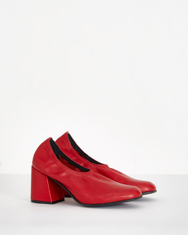 redCarolyn Donnelly The Edit Red Leather Court Heels