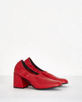 red Carolyn Donnelly The Edit Red Leather Court Heels