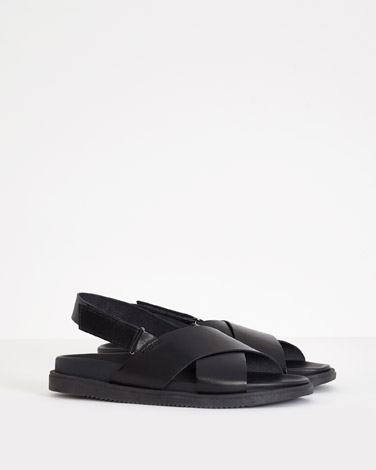 black Carolyn Donnelly The Edit Crossover Sandals