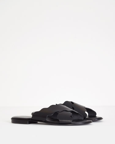 black Carolyn Donnelly The Edit Slip-On Sandals