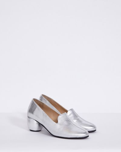Carolyn Donnelly The Edit Silver Leather Loafer