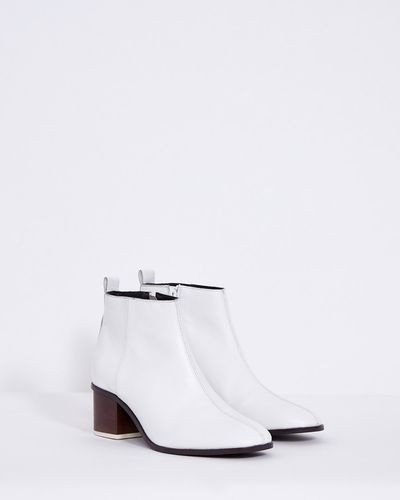 Carolyn Donnelly The Edit White Leather Boot