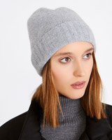 grey Carolyn Donnelly The Edit Cashmere Hat