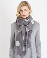 print Carolyn Donnelly The Edit Wool Spot Scarf