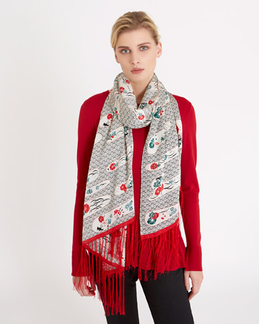 redCarolyn Donnelly The Edit Chinese Silk Scarf