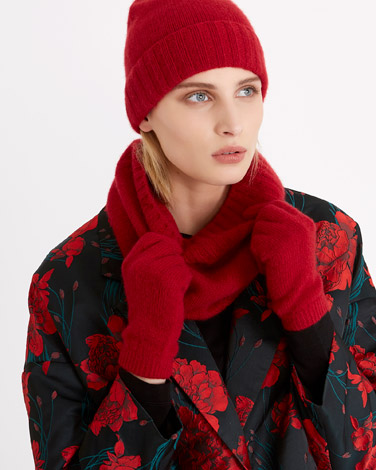 redCarolyn Donnelly The Edit Cashmere Gloves