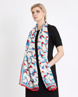 print Carolyn Donnelly The Edit Origami Print Silk Scarf