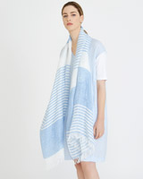blue Carolyn Donnelly The Edit Stripe Scarf