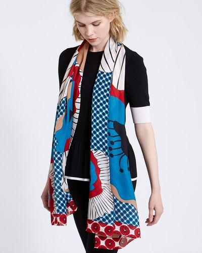 8f59ea793f222 Carolyn Donnelly The Edit Poppy Print Silk Scarf ...