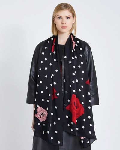 Carolyn Donnelly The Edit Polka Dot Silk Scarf