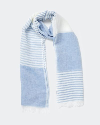 Carolyn Donnelly The Edit Linen Cotton Stripe Scarf