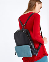 black Carolyn Donnelly The Edit Leather Backpack