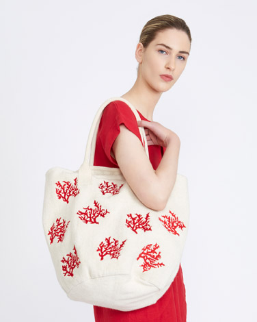 coralCarolyn Donnelly The Edit Embroidered Tote