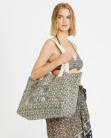 khaki Carolyn Donnelly The Edit Canvas Tote