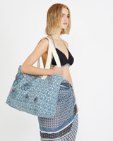 blue Carolyn Donnelly The Edit Canvas Tote