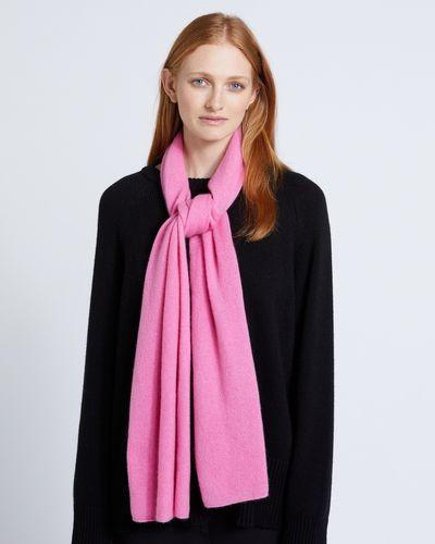 Carolyn Donnelly The Edit Pink Medium Cashmere Scarf