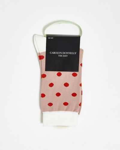 Carolyn Donnelly The Edit Big Polka Dot Socks