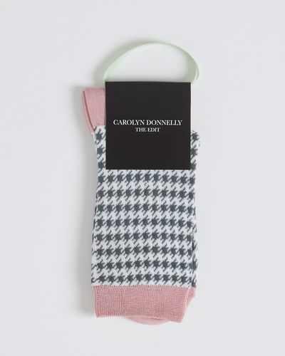 Carolyn Donnelly The Edit Houndstooth Socks