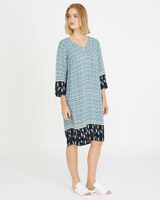blue Carolyn Donnelly The Edit Print Kaftan