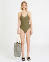 khaki Carolyn Donnelly The Edit Swimsuit