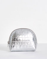 silver Carolyn Donnelly The Edit Make Up Bag