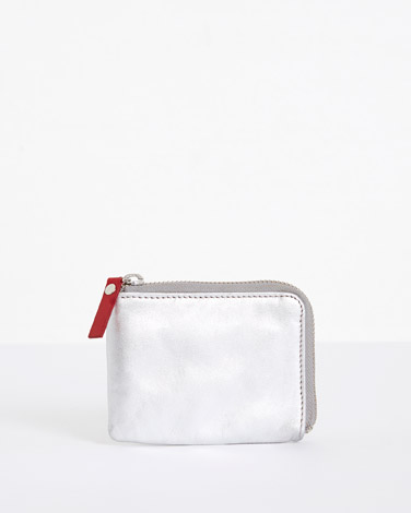 silver Carolyn Donnelly The Edit Leather Coin Wallet