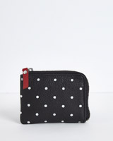 black Carolyn Donnelly The Edit Leather Coin Wallet