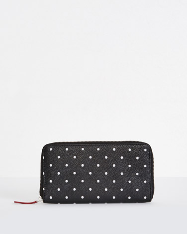 black Carolyn Donnelly The Edit Leather Spot Wallet