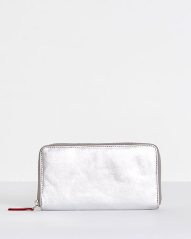 silver Carolyn Donnelly The Edit Leather Silver Wallet
