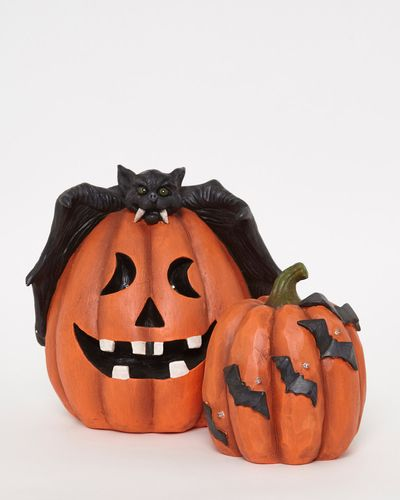 LED Bat Pumpkin