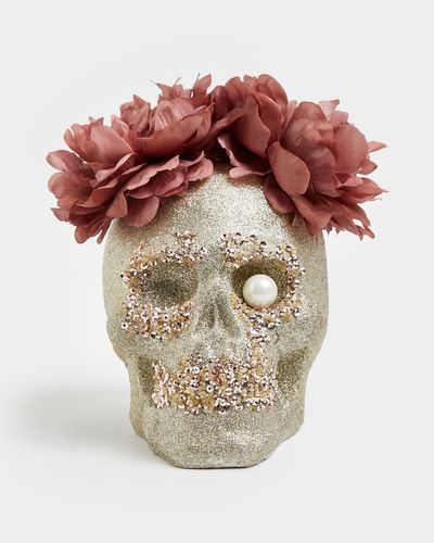 Glitter Flower Skull