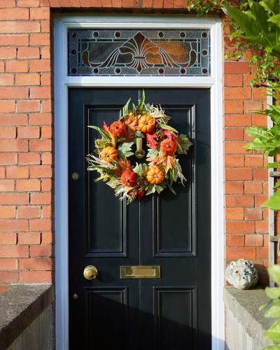 Velvet Pumpkin Wreath
