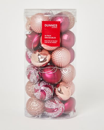 Mini Baubles - Pack Of 30