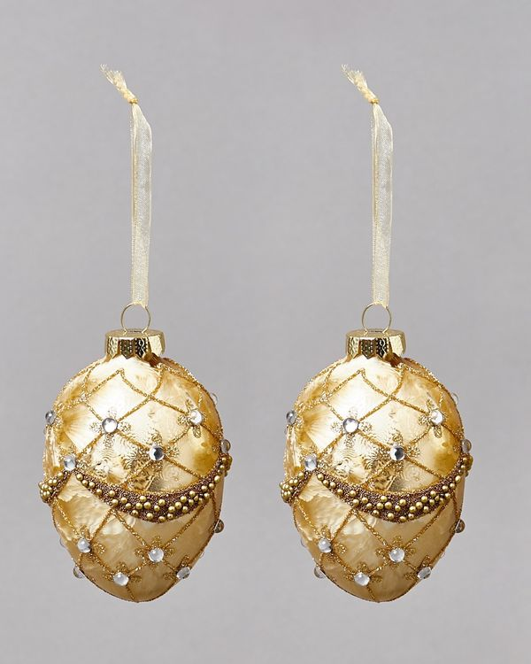 Gold Egg Decoration - Pack Of 2