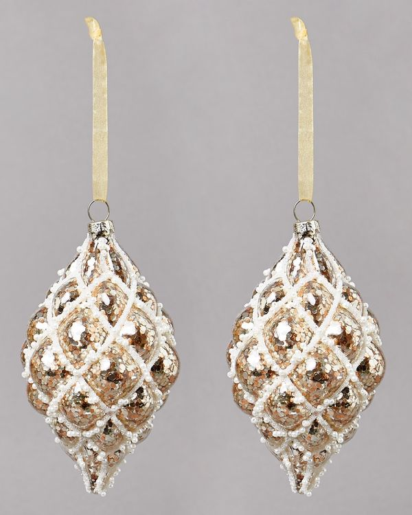 Quilted Finial - Pack Of 2