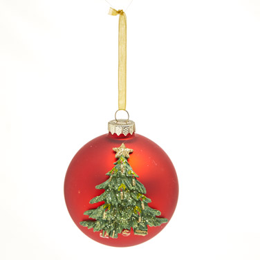 red3D Christmas Tree Bauble