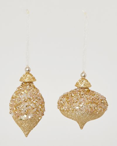 Glitter Onion And Finial Decoration