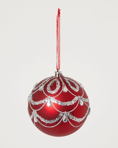 Red-Glitter Bauble