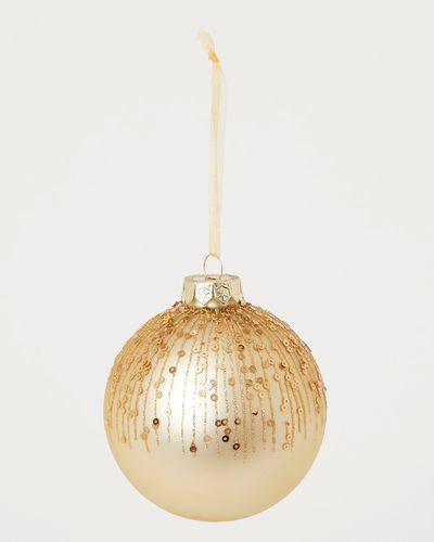 Gold Sequin Bauble