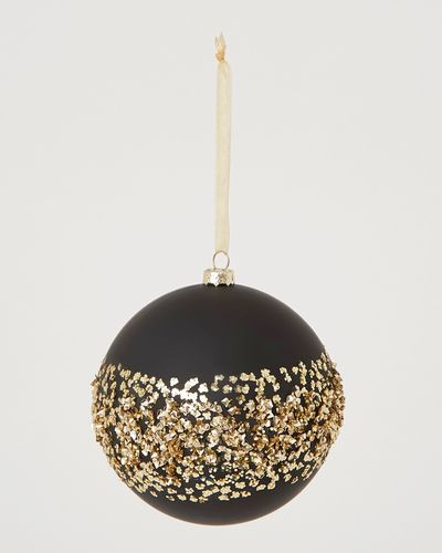 Black Bauble With Gold Trim