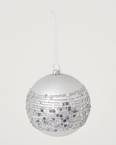 Bauble With Sequin Trim